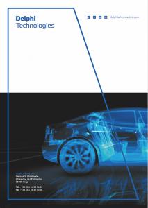 Nouveau catalogue dédié aux solutions de diagnostic par Delphi Technologies